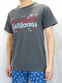 PIGMENT DYED JERSEY T-SHIRT #NO MORE CALIFORNIA / MST-S18SP02 / プリントTシャツ