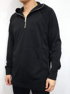 NYLON SWEAT HALF ZIP P/O HOODIE / RC11-C-002 / ハーフジップパーカー